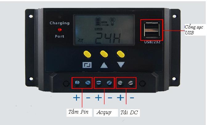 Sạc năng lượng mặt trời 20A-12/24V Auto
