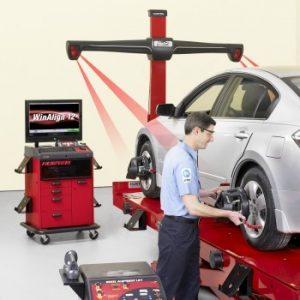 Thay lốp ô tô - Cân chỉnh độ chụm, thước lái cho bánh ô tô
