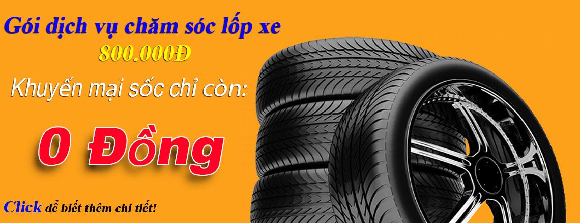 Chương trình khuyến mại thay lốp ô tô
