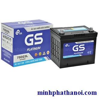 Ắc quy GS 65ah - 12v (75D23L) khô
