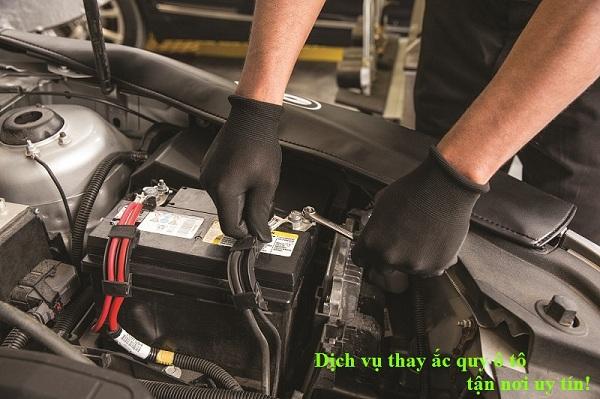 Ắc quy ô tô cho xe Mercedes GL320 máy dầu