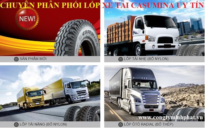 Phân phối lốp xe tải Casumina tại Hòa Bình