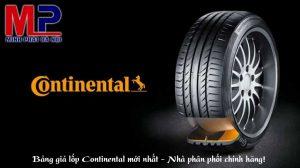 Bảng giá lốp Continental mới nhất - Nhà phân phối chính hãng!