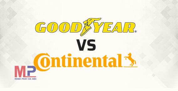 Đặt lên bàn cân chất lượng cùng giá lốp xe Goodyear và lốp Continental