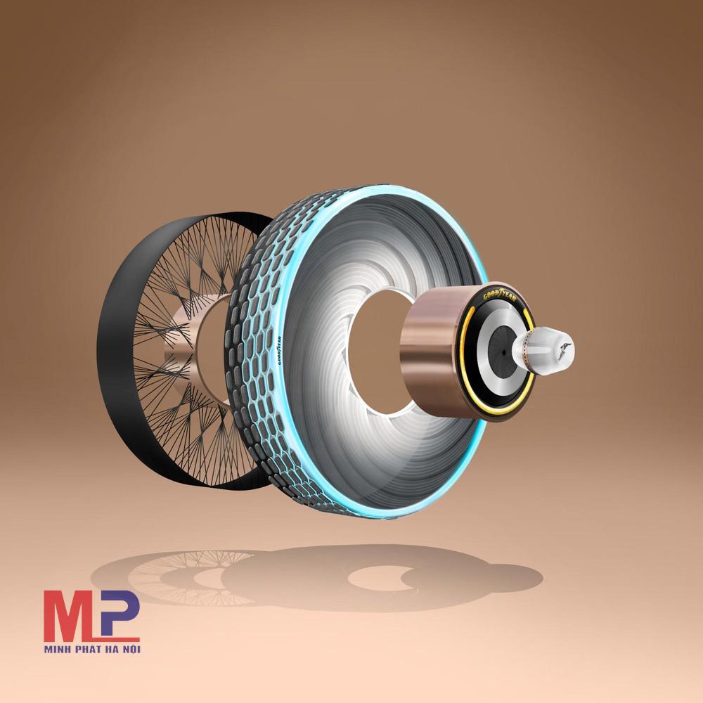 Lốp Goodyear thiết kế hệ thống gai khoá liên khối ba chiều