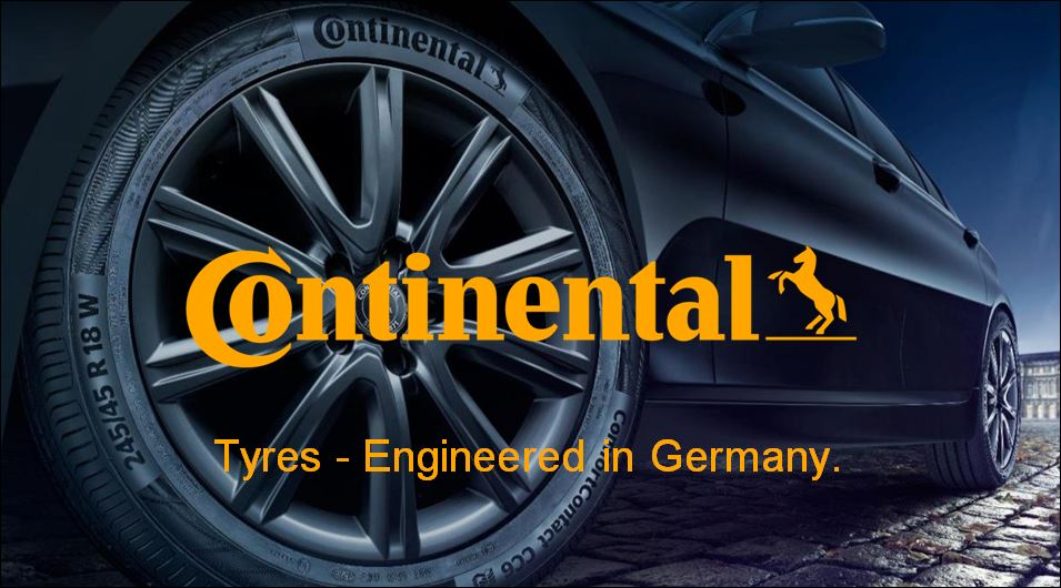 Lốp ô tô Continental có thiết kế nổi bật