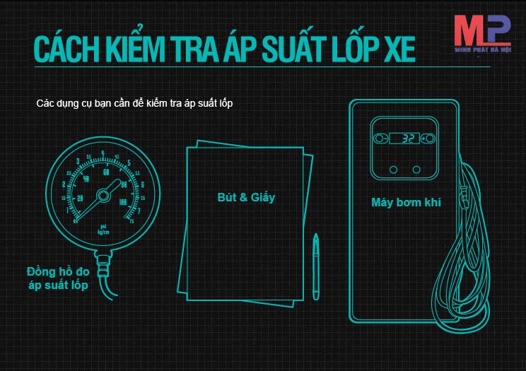Kiểm tra áp suất lốp xe thường xuyên để đảm bảo chiếc xe của bạn vận hành tốt