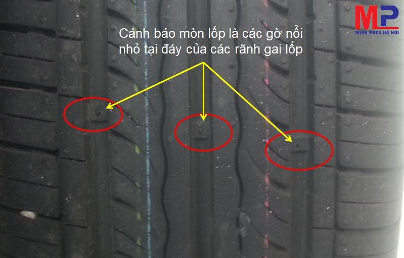 Thay mới khi lốp bị mòn