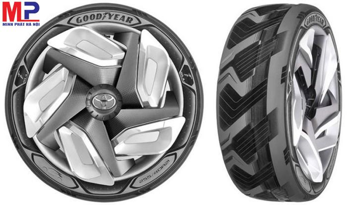 Lốp Goodyear có các viên nang có chức năng lấp đầy những chỗ hư hỏng của lốp