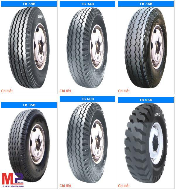 Lốp có nhiều mẫu mã đa dạng