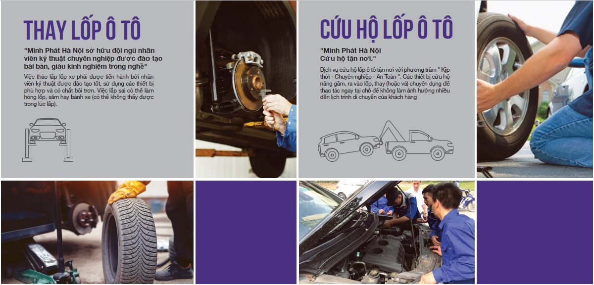 Dịch vụ thay lốp ô tô chuyên nghiệp